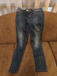 Jeans Massimo Dutti warna biru