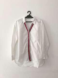 Zara Lined White Blouse
