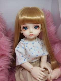 1/6 BJD (YoSD size) — Recast, DOLL with eyes & faceup ONLY