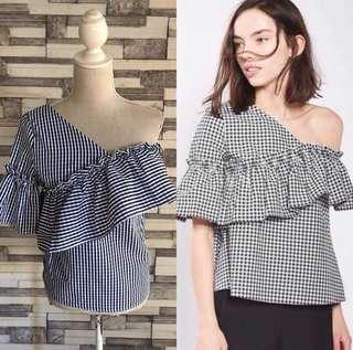 Brandnew with tag Gingham stylish top