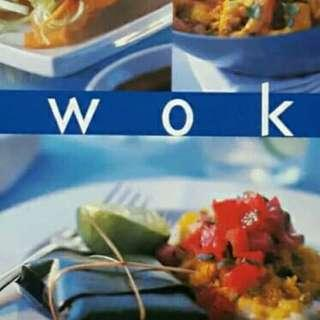 Wok. Cooking book