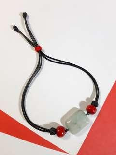 Aquamarine multi color stone handmade bracelet my design jewelry 天然海藍寶雜色石長方自家製制設計木珠手錬鏈