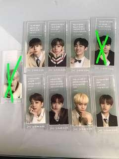 wanna one bookmarks