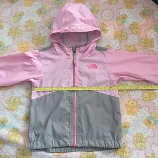 The North Face baby pink grey jacket 小童薄外套風褸 (3-5T)