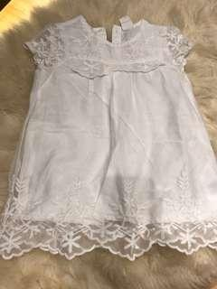 H&M embroidered lace dress 6-9m