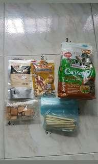 Hamster/gerbil treat samples