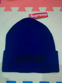 New With Tag Supreme New York City Royal Blue Kings Beanie Snow Cap Japan USA United State Canada 100% acrylic