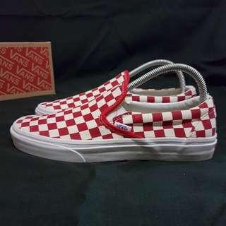 Vans Slip On checkerboard Red BNWB New size 40.5