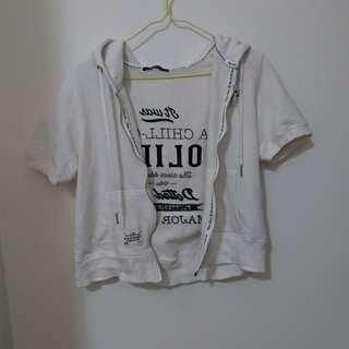 🚚 Major made 白色刺繡短袖外套 1