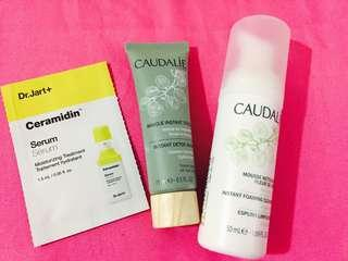 Caudalie Instant Foaming Cleanser+Instant Detox Mask+Free gift