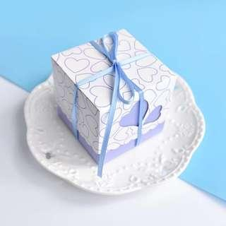 🚚 Sweet Heart Cube Print Paper Gift Box