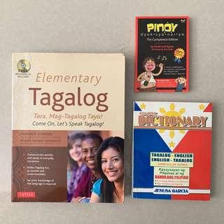 Books (Dictionaries and Learn Tagalog)