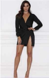 Meshki wrap Adara Mini dress Kylie Jenner small