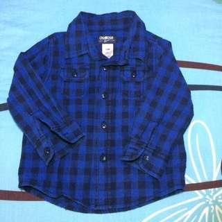 OshKosh Bgosh blue checkered shirt