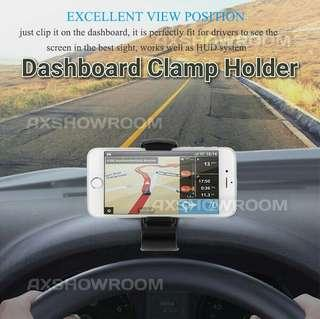 """Universal Dashboard Clamp Holder For Mobile Phones Or GPS. Suitable For Devices Ranging From 3"""" To 6.5"""""""