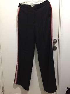 h&m striped office pants