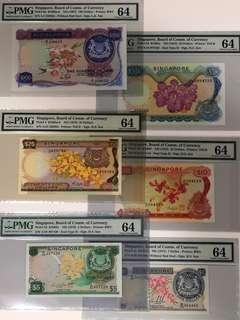 Singapore Orchid Uncirculated Banknote