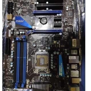 Spoiled motherboard msi p67a-g45