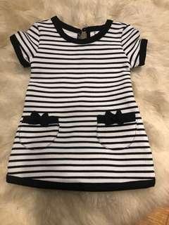 Baby girl striped dress 0-3m