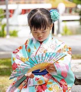 Children's kimono and yukata rental + dressup