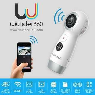 Wunder360 360 Degrees Panoramic VR 360 Camera Dual Lens Panoramic Camera