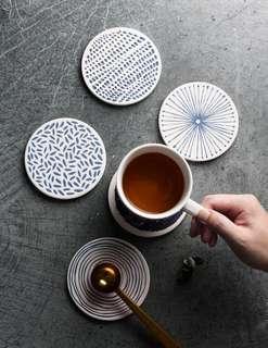 🚚 Instock Minimalist Ceramic Coaster Set (6pc)