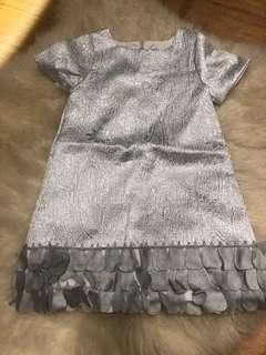 Girls silver dress 2Y
