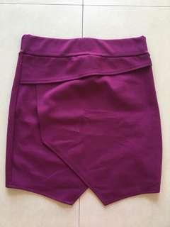 Fuschia Pink Mini Skirt