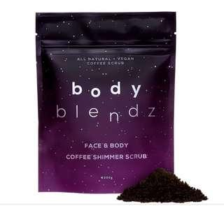 Coffee Shimmer Scrub for face and body!