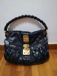 Miu Miu Black Nappa Coffer Matelasse Leather Handbag 91550 2c5929d0e961c