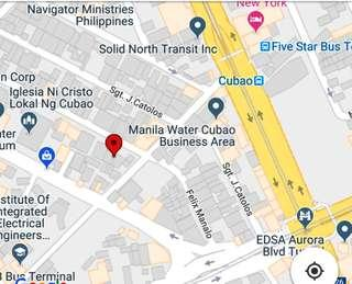 VACANT LOT FOR SALE IN CUBAO CATOLOS