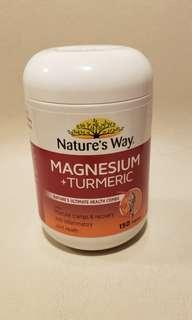 Nature's Way Magnesium + Turmeric 有助肌肉抽筋及消炎作用