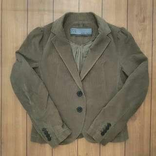 ZARA BASIC BROWN BLAZER CORDUROY .Women. size EUR: M USA: M MEK 26