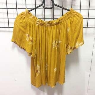 Yellow Off-shoulder