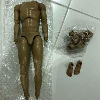 1/6 scale toy male nude body for kitbash