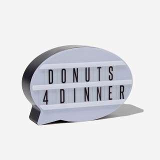 Typo donut light