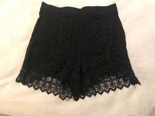Topshop lace shorts size 8