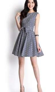 Lilypirates Heart On Your Sleeves Dress in Pinstripe Blue