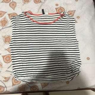 hnm h&m stripes shirt