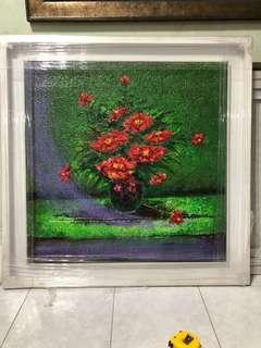 Oil Painting of flower by koh poh sye