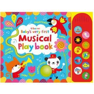 🚚 [BN] Usborne- Baby's very first touchy-feely musical play book