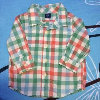 Baby Gap green red checkered shirt