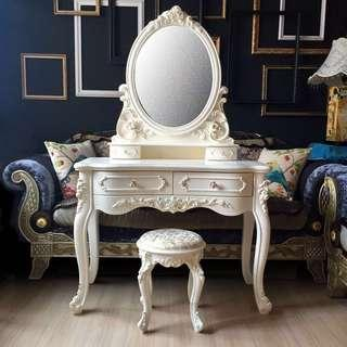 🚚 Sold. New! French Vanity Dresser with Stool set 1M