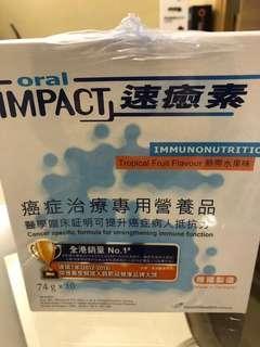 雀巢速癒素 oral impact 74克10包熱情果味