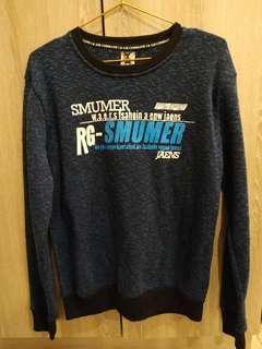 🚚 印花藍色毛衣 M #半價衣服市集
