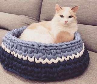 手織貓窩 狗窩 訂造寵物窩🐈🐩🦜🐇🦔🐿🏠