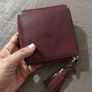 Zipper Around Wallet Genuine Leather
