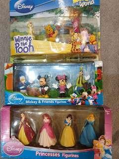 Disney Figurines - Princesses, Mickey & Friends, Winnie the Pooh