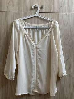 CreamColor blouse