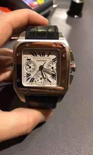 Cartier Santos 100 steel Chronograph